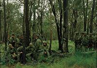 作品画像:<陸上の出来事>シリーズ 海兵遠征部隊の小隊、オーストラリア、ショールウォーターベイ演習場