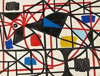 作品画像:赤の線の鳥
