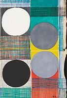 作品画像:四つの丸 白・黒・グレー