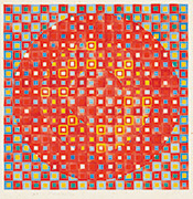 作品画像:黄色の輪のある同心円