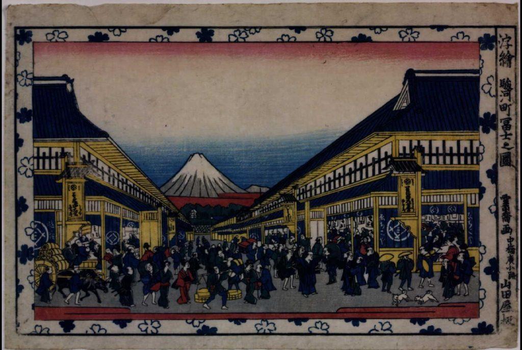 作品画像:浮絵 駿河町冨士之図