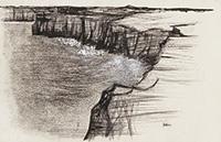 作品画像:屏風ヶ浦の岬