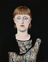 作品画像:月光と肖像(星と女性)