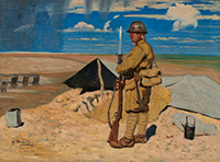 作品画像:黄河第一線に立つ歩哨