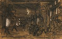 作品画像:戦時下の鉄工所