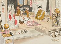 作品画像:昭和職業絵尽 旗屋