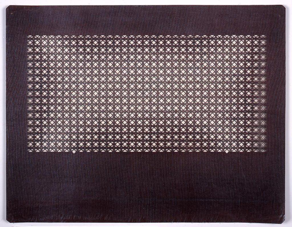 作品画像:長板中形型紙 菱格子