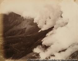 作品画像:磐梯山・蒸気噴吐
