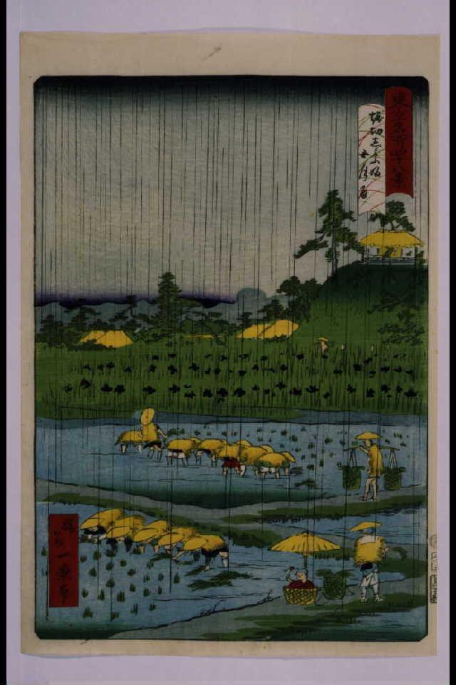 作品画像:東京名所四十八景 堀切しよふ坂五月雨