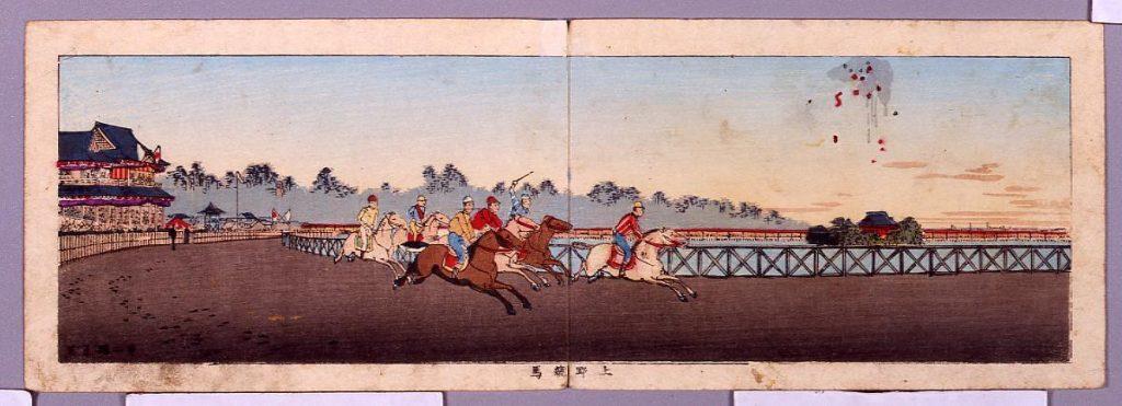 作品画像:東京真画名所図解 上野競馬