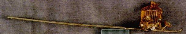 作品画像:銀鶉鳥篭小花飾簪