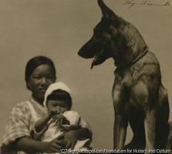 作品画像:犬と子供