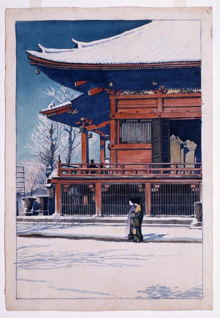 作品画像:東京二十景 浅草観音の雪晴 原画