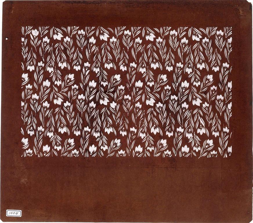 作品画像:長板中形型紙 切花
