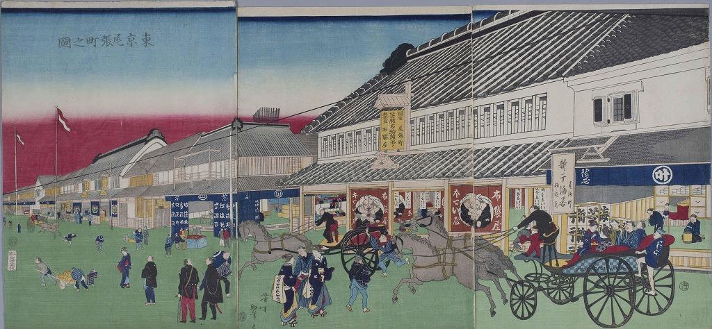 作品画像:東亰尾張町之図