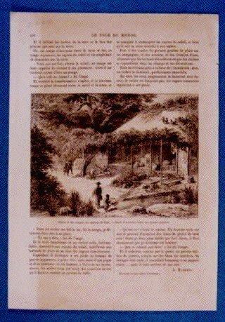 アンベール「幕末日本図絵」挿絵 江戸の茶店,松と猿図,竹とリス図