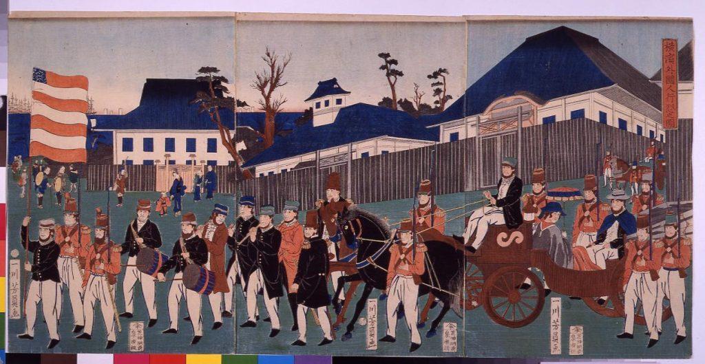 作品画像:横浜外国人行烈之図