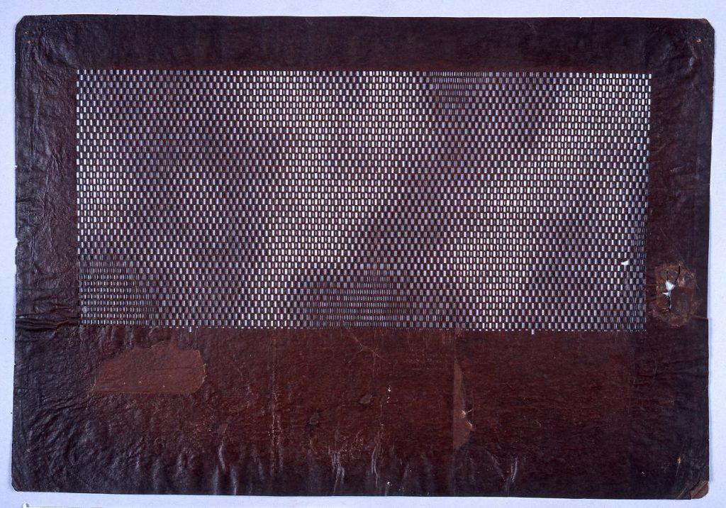 作品画像:長板中形型紙 変わり市松