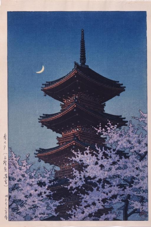 作品画像:春の夕(上野東照宮)