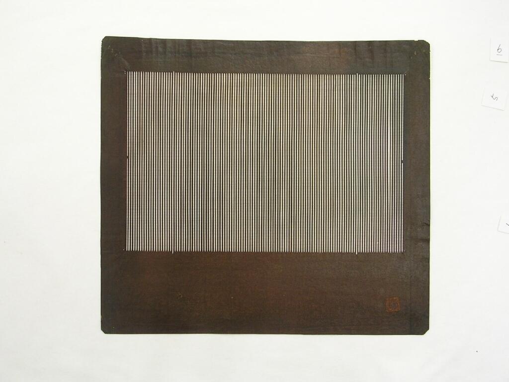 作品画像:長板中形型紙 中判糸入 にたり縞