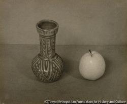 作品画像:花瓶と梨