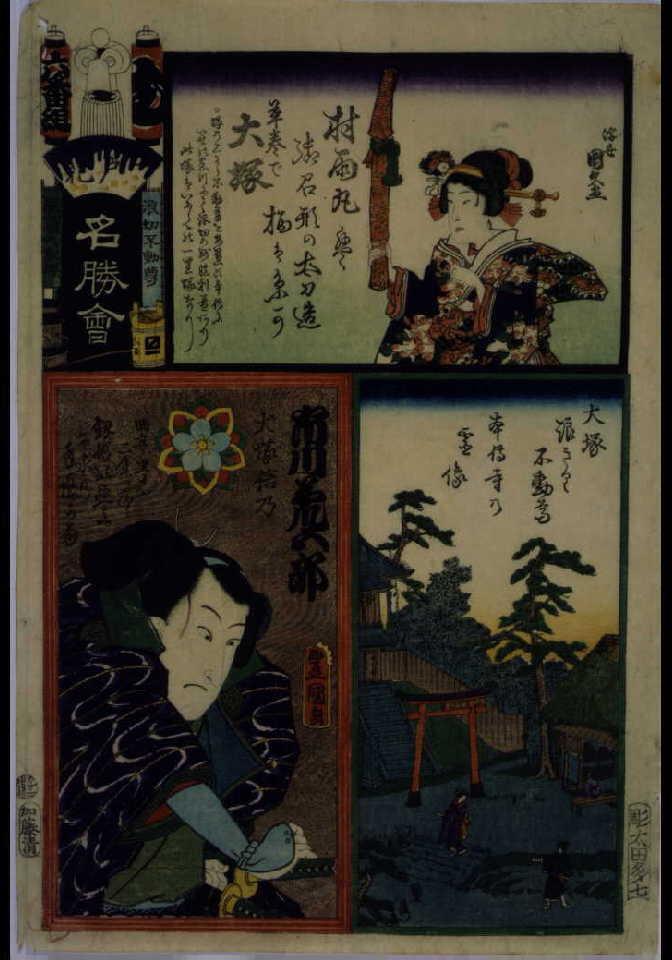 作品画像:江戸の花名勝会 む 六番組