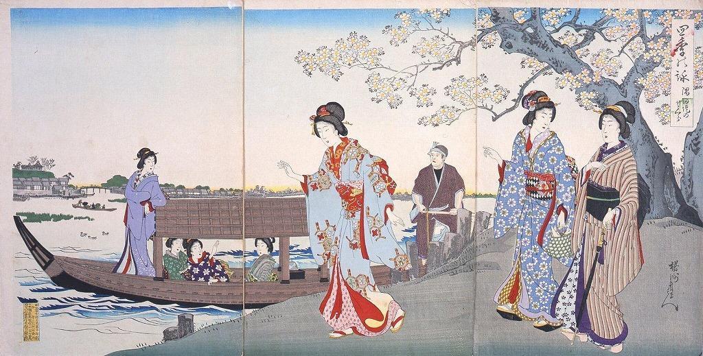 作品画像:四季の詠 隅田堤のさくら