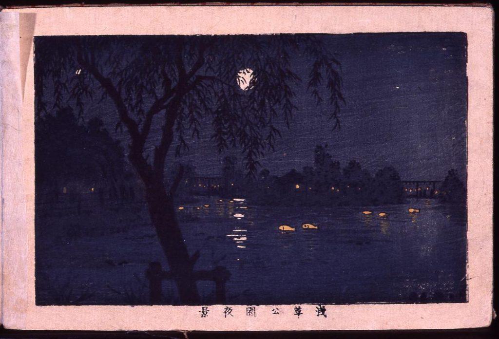 作品画像:浅草公園夜景