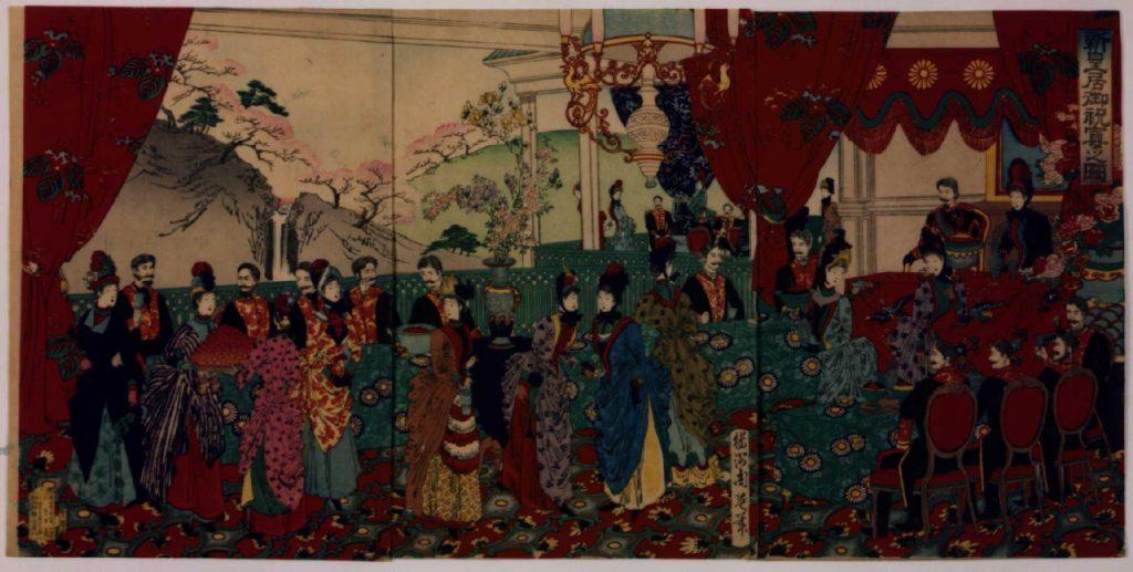 作品画像:新皇居御祝宴之図