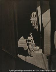 作品画像:(階段を下る女性)