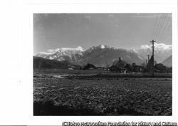 作品画像:大町から見た山々