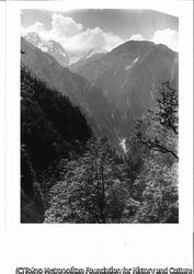 作品画像:剱沢の大滝を望む