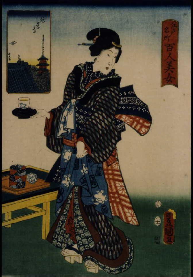 作品画像:江戸名所百人美女 浅草寺
