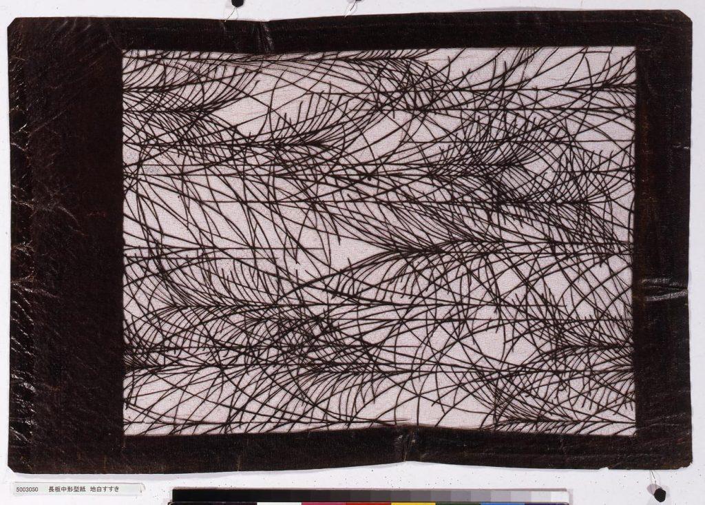作品画像:長板中形型紙 地白すすき