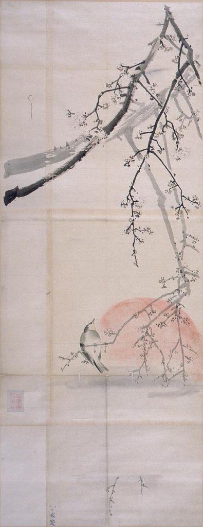 作品画像:粉本 梅に鶯