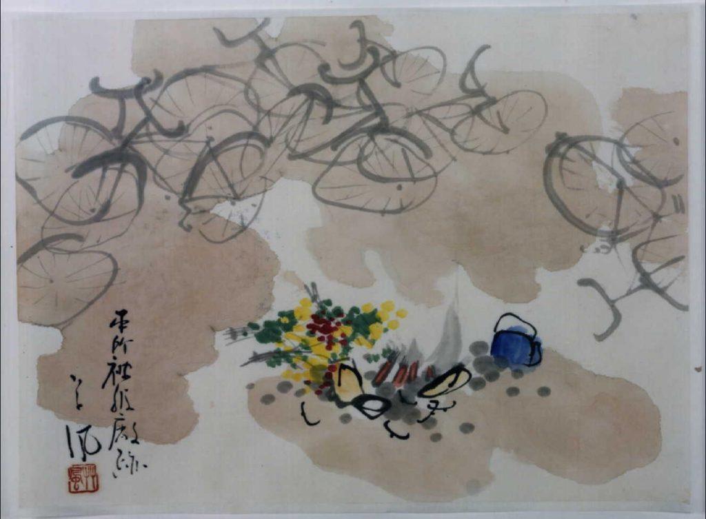作品画像:関東大地震画:本所被服廠跡