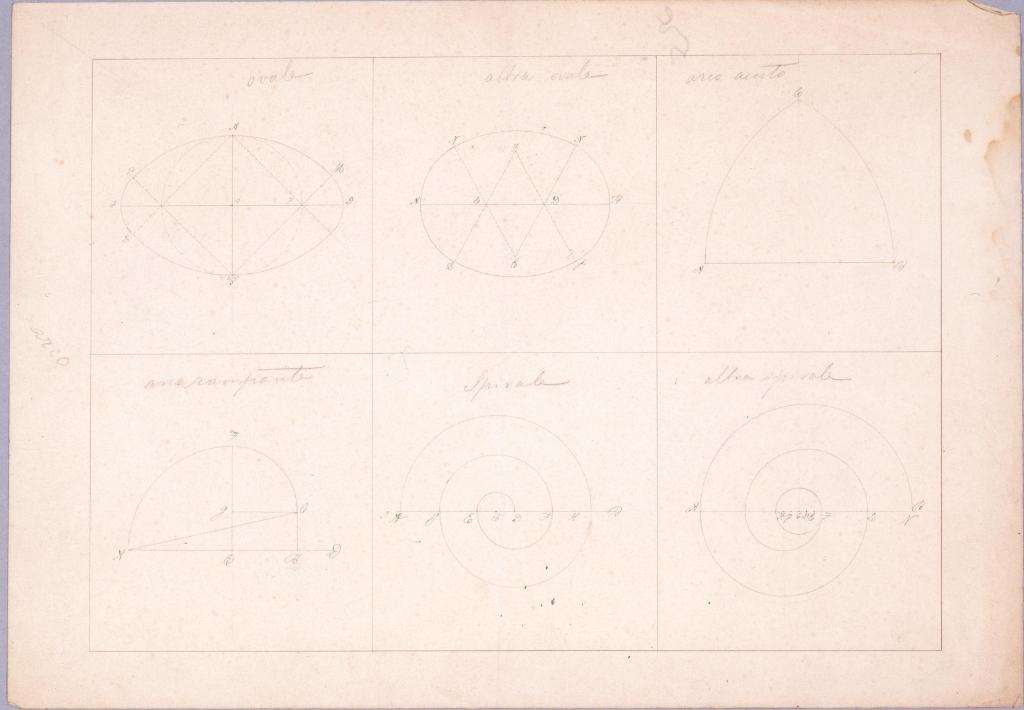 作品画像:図面習作 曲線,楕円