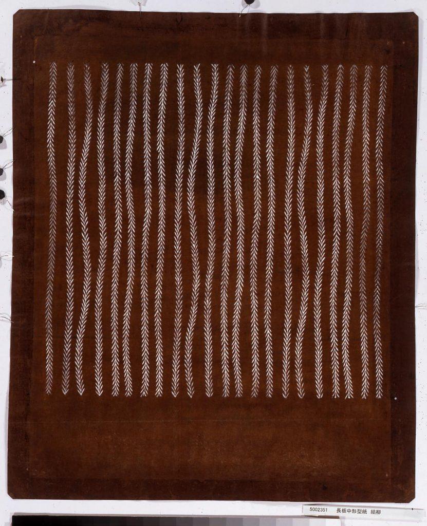 作品画像:長板中形型紙 縞柳