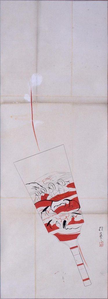 作品画像:粉本 抱一写 羽子板