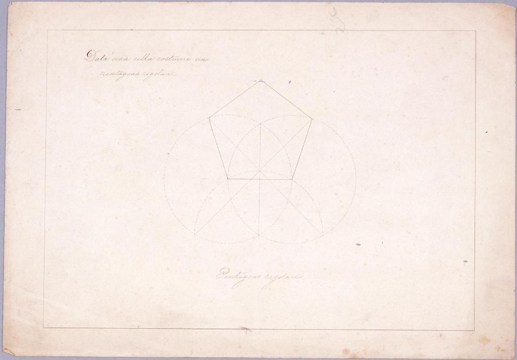 作品画像:図面習作 正五角形