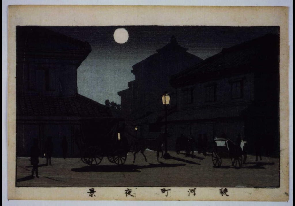 作品画像:東京真画名所図解 駿河町夜景