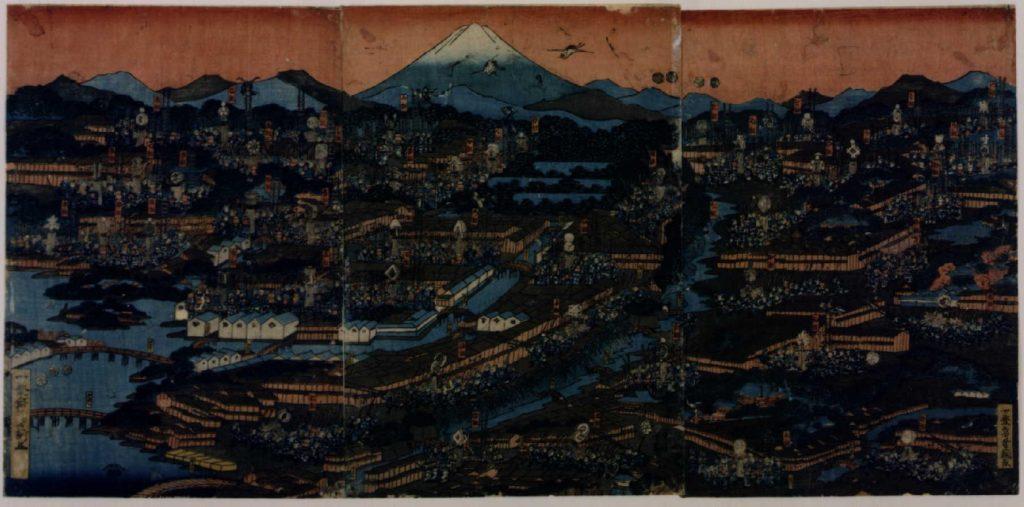 作品画像:江戸町並火消し之図