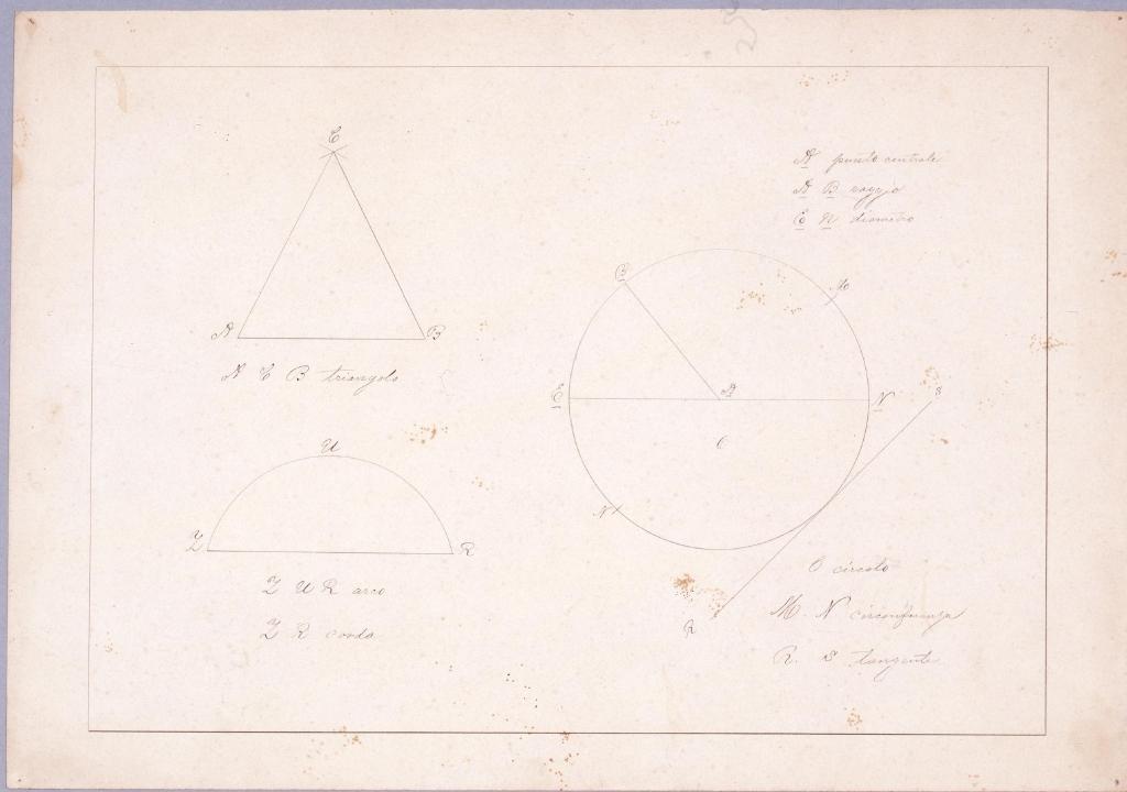 作品画像:図面習作 正円,正三角形,半円
