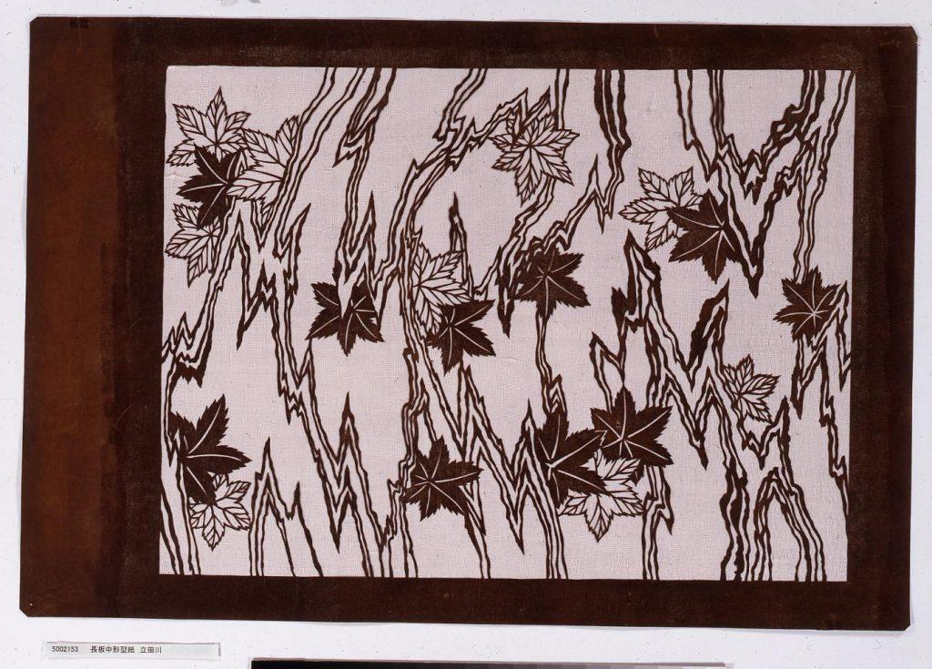 作品画像:長板中形型紙 立田川