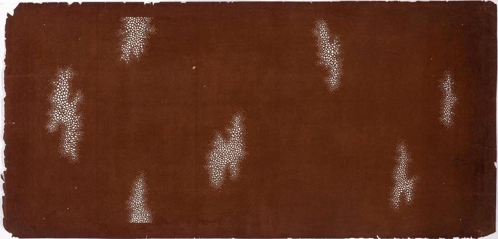 作品画像:長板中形型紙 雲(大判 追掛)