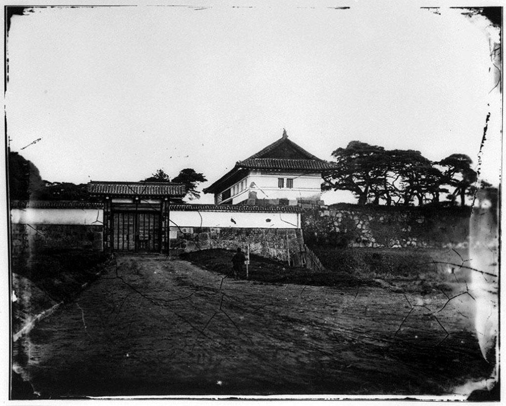 作品画像:旧江戸城写真ガラス原板  田安門