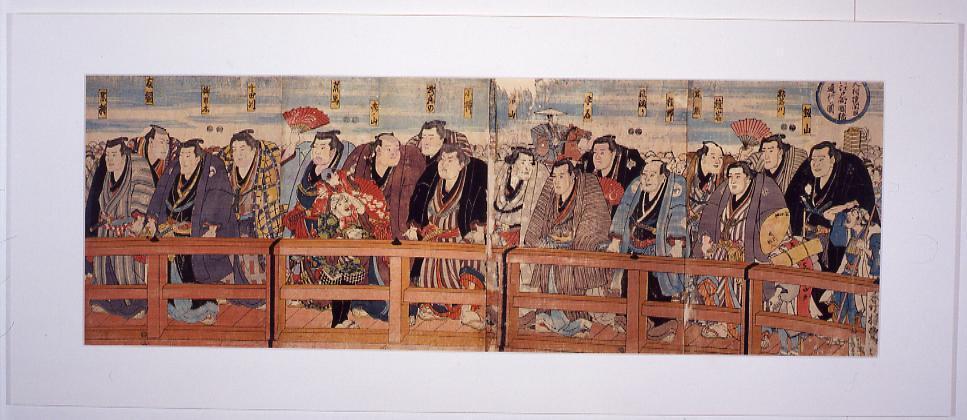 作品画像:大相撲関取両国橋 通行之図