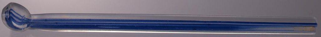 作品画像:青線模様入ガラス製笄