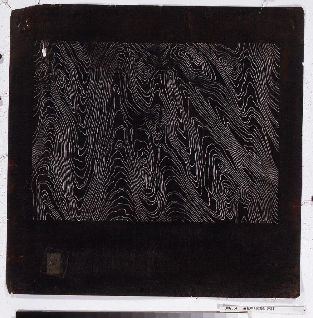 作品画像:長板中形型紙 木目