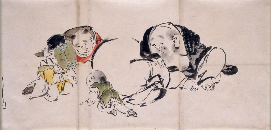 作品画像:粉本 布袋と唐子